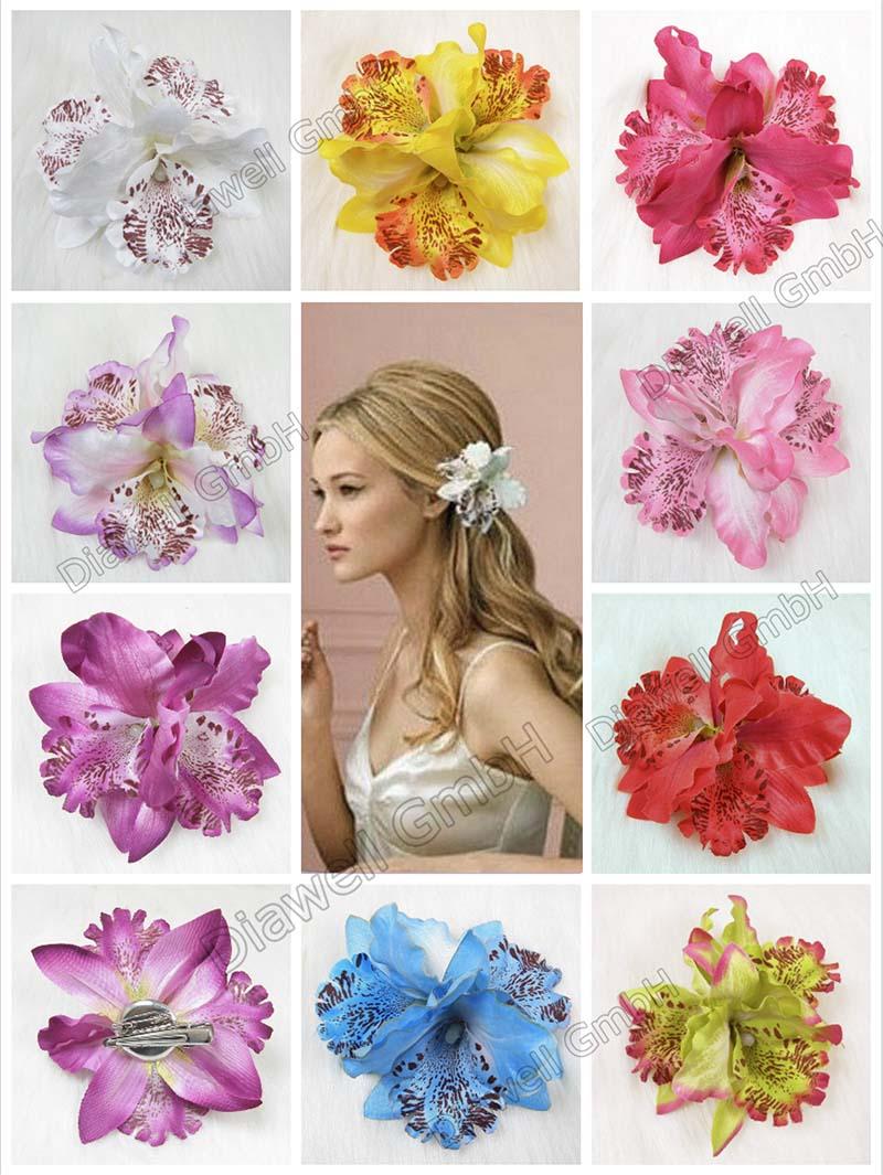 Haarspange Haarscmuck Blume Blüte Haarclip Haarblume