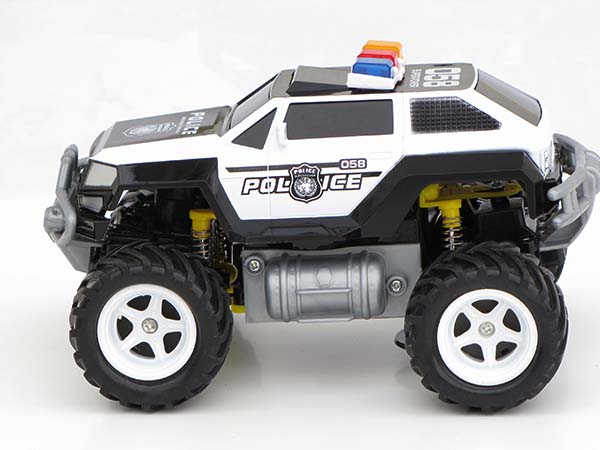 rc ferngesteuertes polizei auto polizeiauto truck mit akku. Black Bedroom Furniture Sets. Home Design Ideas