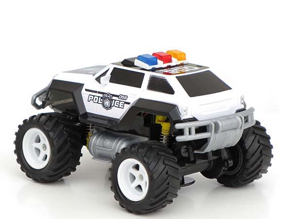 rc ferngesteuertes polizei auto polizeiauto truck mit akku. Black Bedroom Furniture Sets. Home Design Ideas