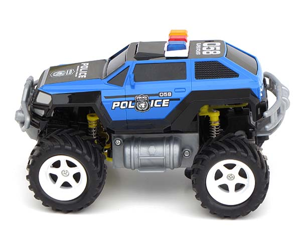 rc ferngesteuertes polizei auto polizeiauto monstertruck. Black Bedroom Furniture Sets. Home Design Ideas