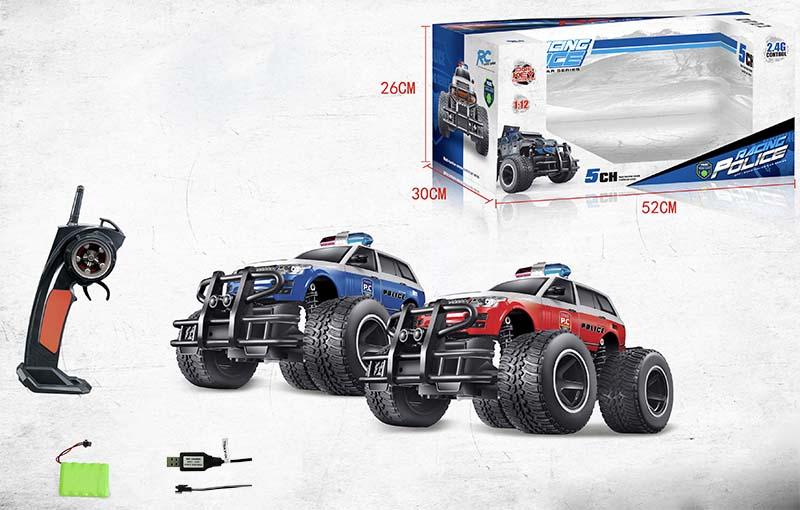 rc ferngesteuertes polizeiauto auto truck 2 4ghz mit akku. Black Bedroom Furniture Sets. Home Design Ideas