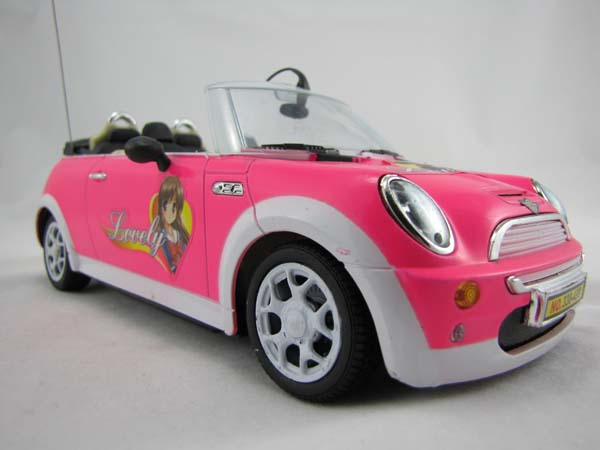rc ferngesteuertes auto cabrio 1 16 farbe rosa mit frontscheinwerfer ebay. Black Bedroom Furniture Sets. Home Design Ideas