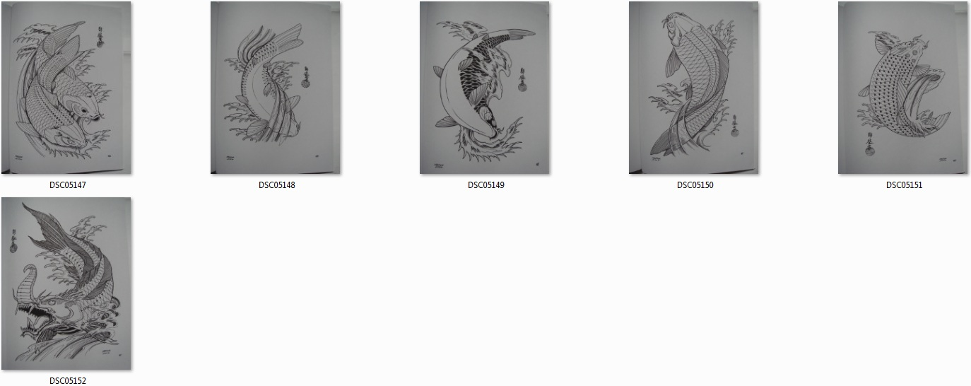 japanische tattoo vorlagen book buch koi 210mm x 285mm din a4 ebay. Black Bedroom Furniture Sets. Home Design Ideas
