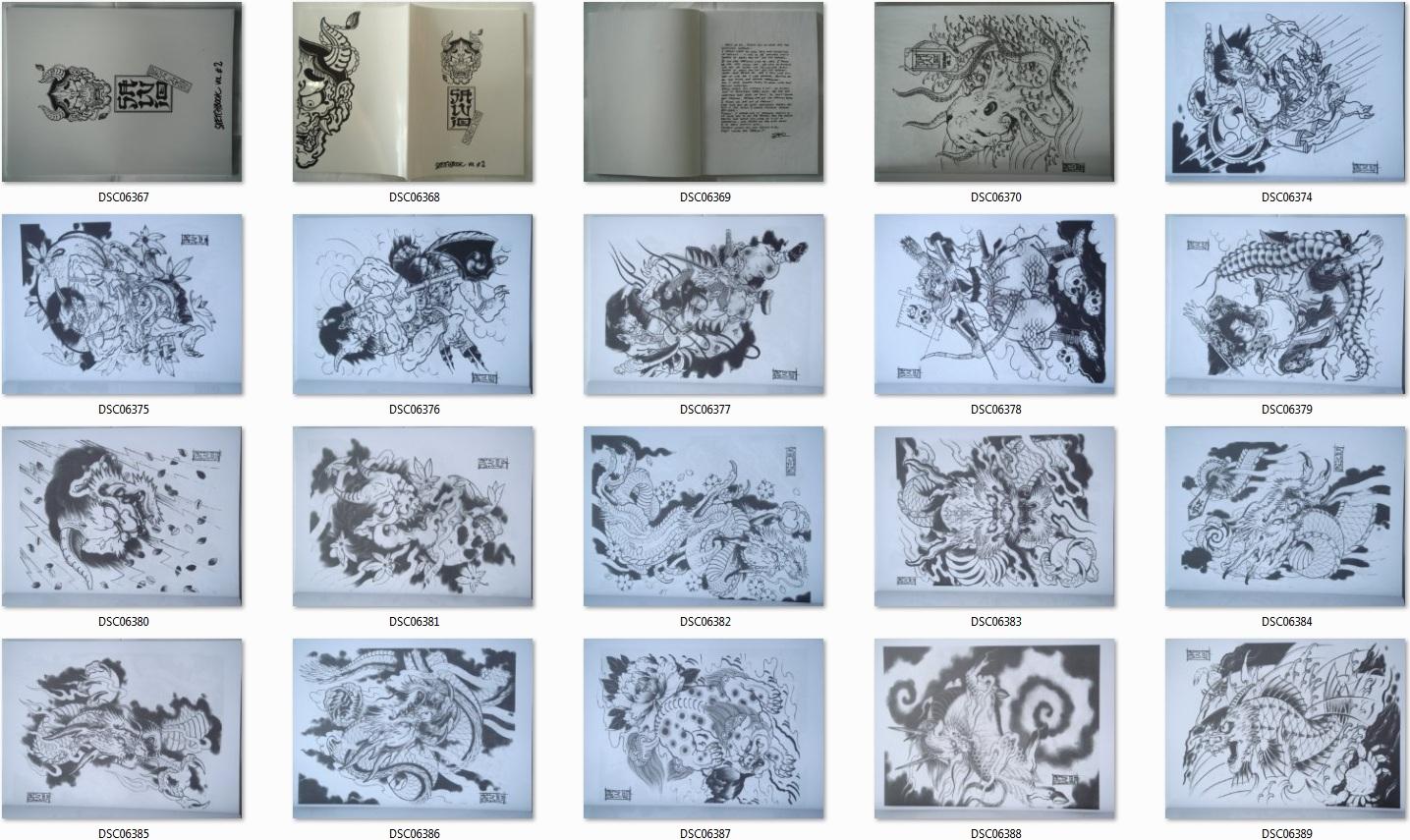 japanische tattoo vorlagen sketsch book buch 210mm x 285mm. Black Bedroom Furniture Sets. Home Design Ideas