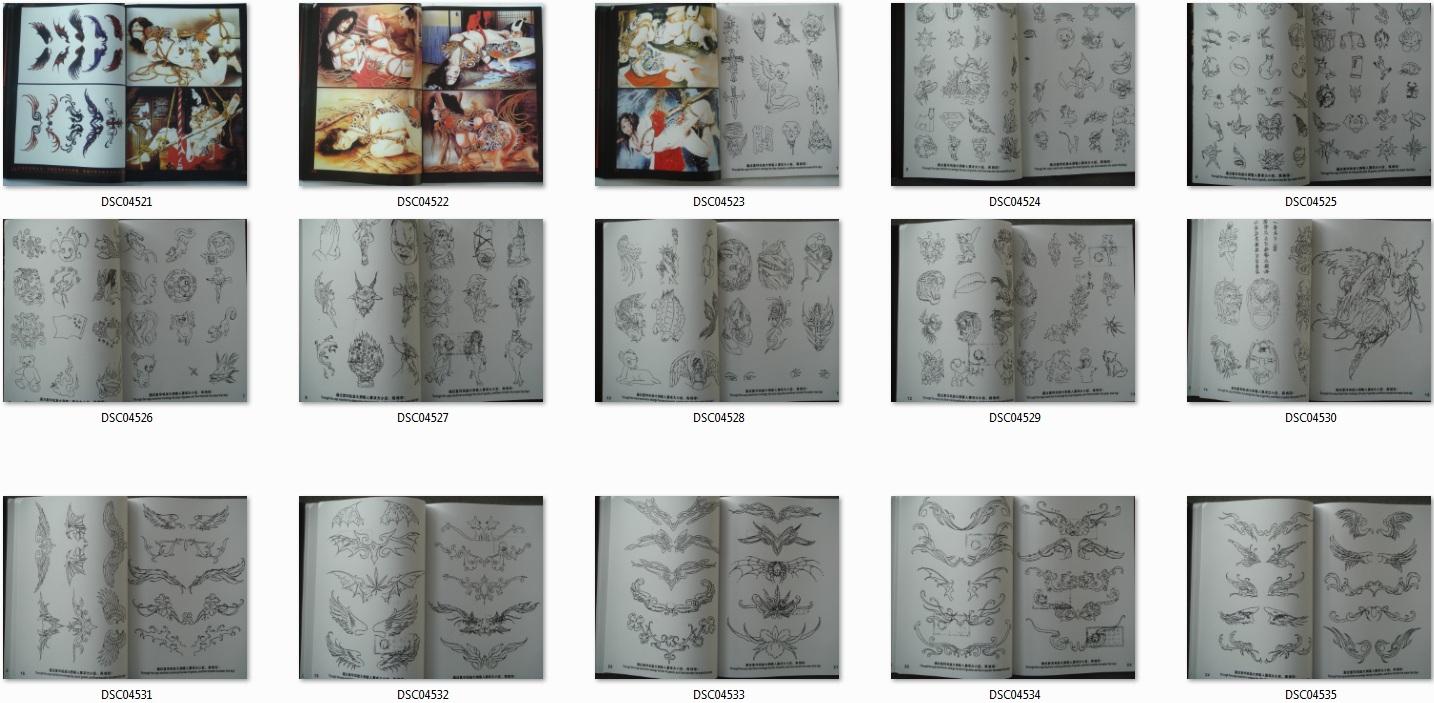 Tattoo Vorlagen Book BuchTätowierungen DIN A4 Auf 80 Seiten Neu ...